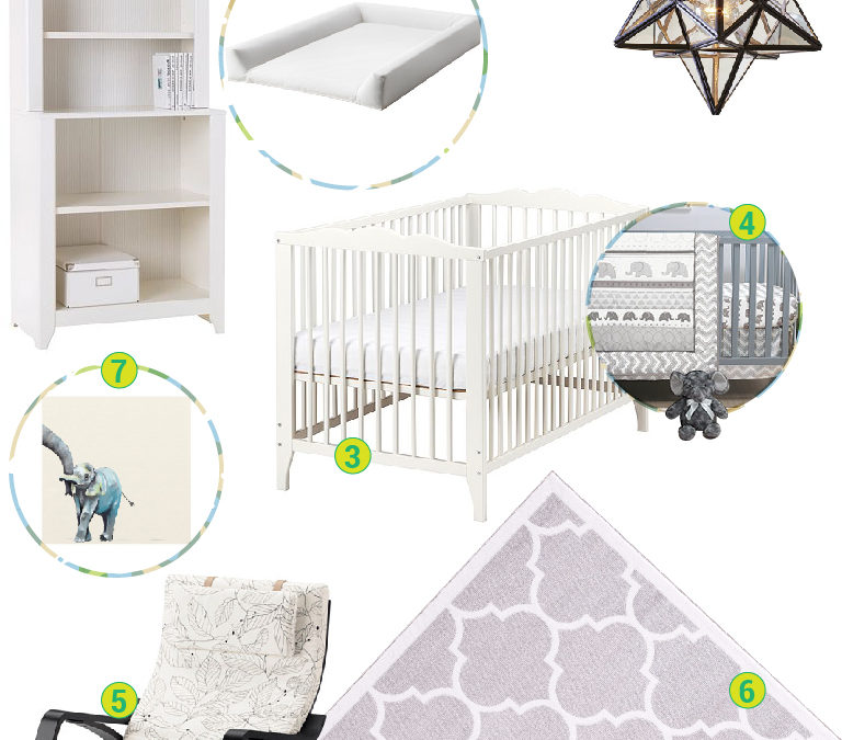 Gender Neutral Baby's Room on a Budget